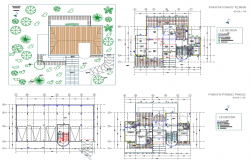 Villa Residential Project detail dwg file