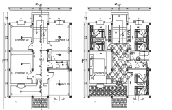 Villa architectural layout plan