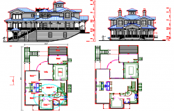 Villa architecture plan dwg file