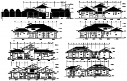 Villa drawing with detail dimension in AutoCAD