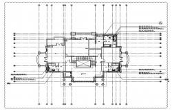 Villa floor plan with detail of water supply system.