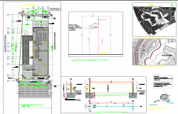 Villa plan view detail dwg file