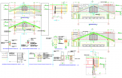 Village House Roof construction detail dwg