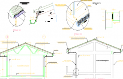 Village School Architecture Design and structure Details dwg file