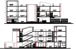 Village Style Housing Project Elevation Details dwg file