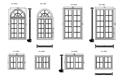 Vintage style window detailing