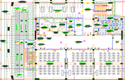 Virtual library architecture layout structure details dwg file