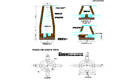 Visit pit type plan and section layout file