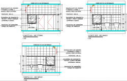 W.C section detail dwg file