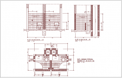 WC(Washing Closet ) plan,elevation and section view for office area dwg file
