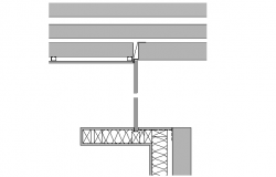 Construction wall joint Plan Detail dwg file
