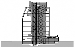 Corporate Building dwg file