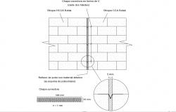 Wall Expansion Section Drawing AutoCAD Free File