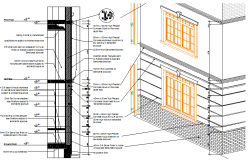 Wall Exterior elevation dwg file