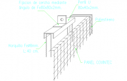 Wall Structure Detail DWG file