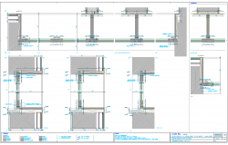 Wall Structure Plan dwg file