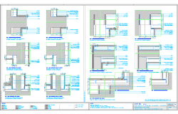 Wall Structure detailing Dwg file