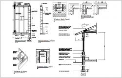 Wall and exterior door construction view dwg file
