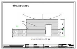 Wall and staircase facade large sample interior design drawing