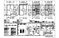 Wall construction, foundation and cover plan cad structure details dwg file