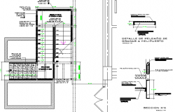 Wall construction details of building dwg file