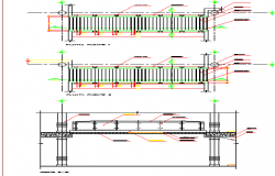 Wall construction details of shopping center dwg file