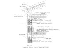 Wall covered mezzanine plan detail dwg.,
