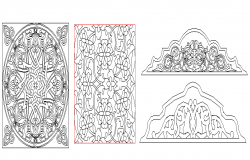 Wall design decorative blocks design dwg file