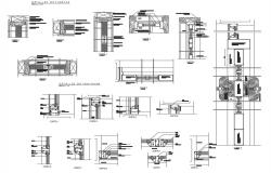Wall elevation and section detail dwg file