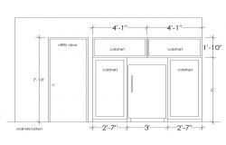 Wall elevation detail 2d view CAD block layout file in autocad format