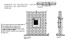 Wall elevation view of house detail dwg file