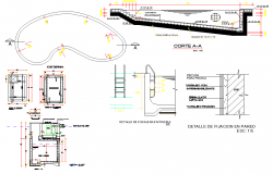 Wall fixing and tank plan layout file