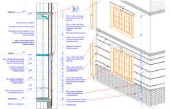Wall interior exterior section plan detail dwg file