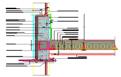 Wall of Concrete block vibrator design drawing