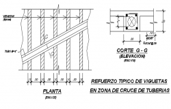 Wall plan and elevation detail dwg file