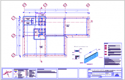 Wall section-2 construction detail for office and shopping center dwg file