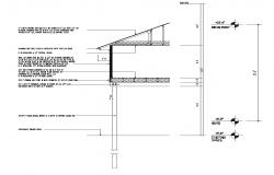 Wall section CAD structure detail 2d view layout dwg file