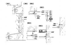 Wall section and construction auto-cad details dwg file