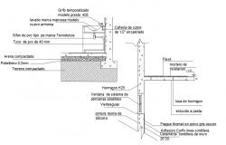 Wall section and sink elevation detail dwg file