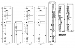 Wall section detail dwg file,