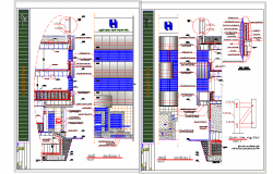 Wall section detail dwg file