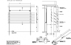 Wall section plan and section detail dwg file