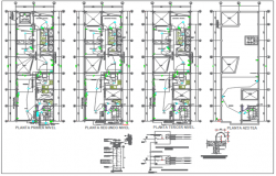 Wall section plan detail and Residential working plan detail dwg file