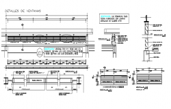 Wall section working plan detail dwg file