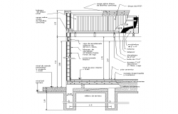 Wall sectional CAD structure detail 2d view layout autocad file