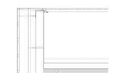 Wall structure detail section 2d view layout file