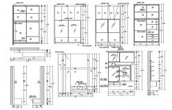 Wardrobe And Dressing Table DWG File