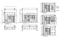 Wardrobe CAD Drawing