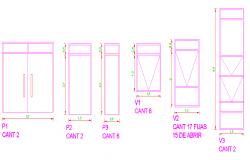 Wardrobe detailing dwg file