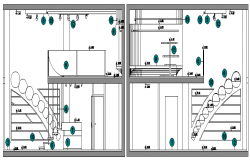 Warehouse Architecture Layout and Section Details dwg file